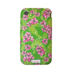 """Dress up your iPhone with this adorable protective case in Lily Pulitzer's """"Floaters"""" print.  Fits iPhone 3G or 3GS.  Protects with a hard shell construction with a soft touch finishing."""