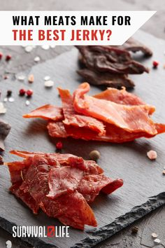 Most of us are familiar with the beef jerky that you can buy in any convenience or grocery store, but there are plenty of animals that make for great jerky. #meatjerky #jerky #survivalfood #survivaltips #survivallife
