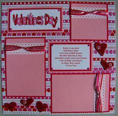 Captivating Baby's 1st Valentine's Day: Scrapbook Page #babyscrapbooks