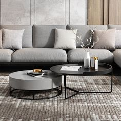 round coffee table Tv Stand And Coffee Table, Stylish Coffee Table, Coffee Table Styling, Round Coffee Table, Centre Table Living Room, Center Table, Table Furniture, Furniture Design, Home Decor Kitchen
