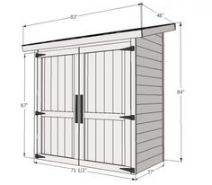 Build a cedar shed! Free easy plans anyone can use to build their own shed for under $260!