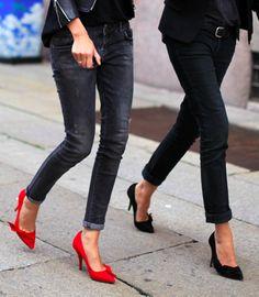 Emmanuelle Alt & Geraldine Saglio wearing Isabelle Marant pumps. #frenchvoguettes