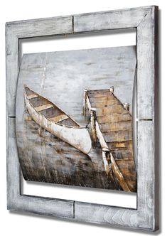 Afternoon Dock On Wood Original Art, The Originals, Wood, Painting, Collection, Woodwind Instrument, Timber Wood, Painting Art, Wood Planks