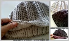 An example of crochet hat for man