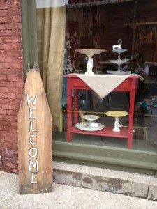 DIY cake stands and food stands made at Better Than Ever, Paducah, KY. Pick up some dishes at Anything Goes Trading Co. when they have their famous parking lot sales!