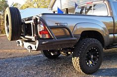 2005-15 Tacoma High Clearance Rear Plate Bumper
