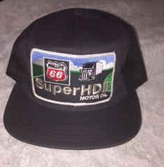 Vntg 90s Phillips 66 Super HD Motor Oil Mesh Snapback Trucker Hat K-Products NOS #KProducts