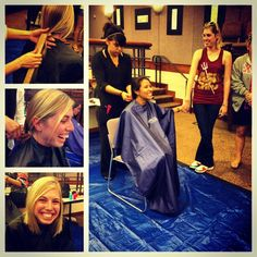 Cutting your hair for Locks of Love with your sisters