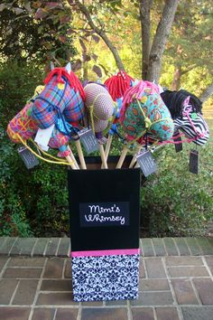 Stick Horse with soft fabric head by MimisWhimsey on Etsy, $22.00