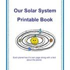$ This printable book is in black and white (students can color in the graphics). Each page focuses on either the sun or a planet, includes the plane...