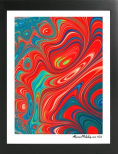 Atomic Art Print 2 - Modern Abstract Giclee by AtomicMobiles.com #abstractart #abstract #art #modernart #colorful #boldcolor #prints #giclee #atomicmobiles