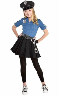 30 Best Police Costumes For Girls Images Girl Costumes