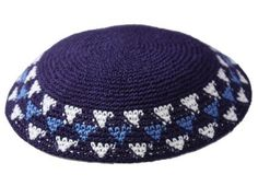 This kippot is well designed and also crocheted by hand therefore style may vary