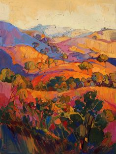 Paso Robles wine country oil painting, by California impressionist Erin Hanson