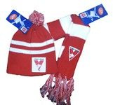 Sydney Swans Baby Pack - Baby Scarf and Beanie $21.95