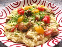 Risotto mit Eierschwammerl und Tomaten