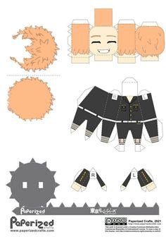 Otaku Anime, Anime Guys, Anime Art, Anime Chibi, Kawaii Anime, Paper Doll Template, Images Murales, Paper Dolls Clothing, Craft Images