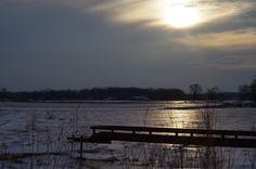 Glaze ice late winter day