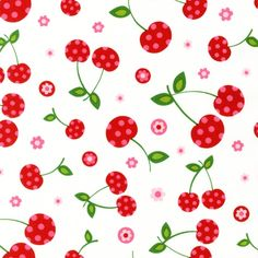Cherry Fabric    CAMF-12976-1 by Pink Light Design from Picnic Party: Robert Kaufman Fabric Company