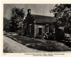Colonial Clerk of Court's office, which becomes county library- 1952: Library History Collection, NC Digital Collections.