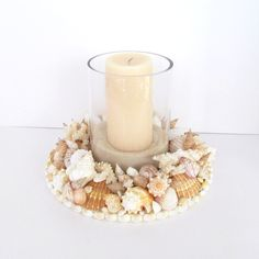 Candle Ring Seashells Shell Candle Centerpiece