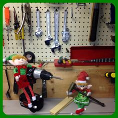 Day 21: The elves have found the tools! I guess they thought they needed to start making some toys in their spare time.