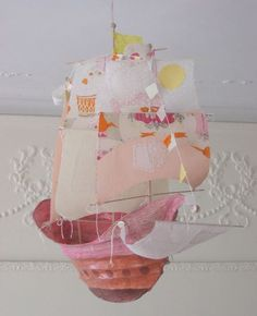 Updated Pollyanna by Ann Wood Crafts To Make, Arts And Crafts, Diy Crafts, Paper Art, Paper Crafts, Ann Wood, Halloween Window, Walnut Shell, Fabric Birds