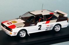 Trofeu 1:43 Audi Quattro Diecast Model Car TRSCA26 This Audi Quattro (Hannu Mikkola - Swedish Rally 1981) Diecast Model Car is White and has working wheels and also comes in a display case. It is made by Trofeu and is 1:43 scale (approx. 9cm / 3.5in long). Driven by Hannu Mikkola and Arne Hertz. #Trofeu #ModelCar #Audi