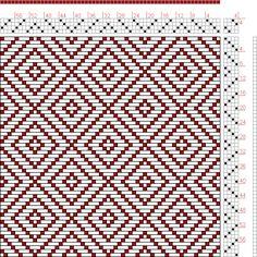 Hand Weaving Draft: Figure 650, A Handbook of Weaves by G. H. Oelsner, 4S, 4T - Handweaving.net Hand Weaving and Draft Archive