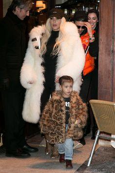 February 14, 2016 - Kim Kardashian & daughter North West
