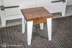 LeCruc bijzettafel | notenhout in combi met wit | leuk in jou nieuwe interieur!