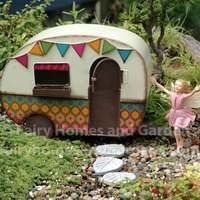 Gypsy Fairy Camper with Rose-Bay Willow Flower Fairy