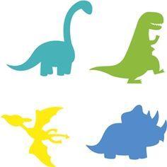 Silhouette Design Store - View Design #23556: dinosaur set