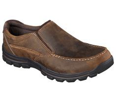 Skechers Men's Relaxed Fit Braver Rayland Slip On Dark Brown Size 8 W