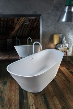 Plunge into redecorating your washroom with Hydrology's Transitional Level 45 Freestanding Bathtub