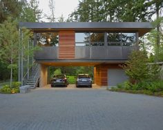Container House - Container House Home Design Ideas, Pictures, Remodel and Decor Who Else Wants Simple Step-By-Step Plans To Design And Build A Container Home From Scratch? Building A Container Home, Container House Plans, Container House Design, Container Van, Container Buildings, Modern Garage, Modern Exterior, Exterior Design, Modern Carport