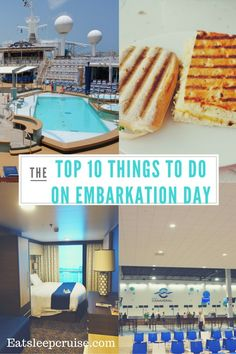 Top 10 Things to Do on a Cruise on Embarkation Day. Note that suitcases will be delivered to your room the first evening of your cruise. Ensure you pack anything you need such as swimsuits & travel documents in a bag to bring on the ship with you.