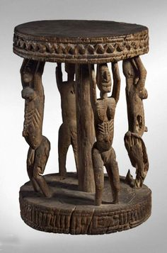 Africa | Stool from the Dogon people of Mali | Hardwood | 47cms | These types of stools were also sometimes used as altars.