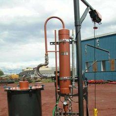 35 Gallon Water/Steam Essential Oil Distiller #distillation #copper #alembic #distiller #essential oil #hydrosol
