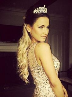Sam Faiers wearing a Claire's tiara at the TOWIE Princess Party!