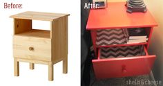 Before and After: How to spray paint a nightstand | shells&cheese