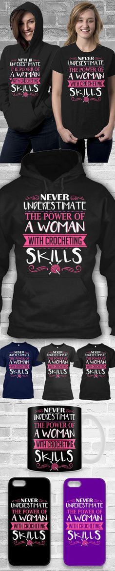 The Power Of A Woman Crocheting Shirts! Click The Image To Buy It Now or Tag Someone You Want To Buy This For.  #crochet