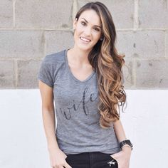 new look up on the blog + wifey tee @ilycouture  + hair by @thedrybar