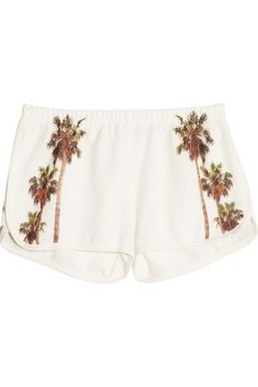 FINDS All Things Fabulous LA printed cotton-blend terry shorts $105