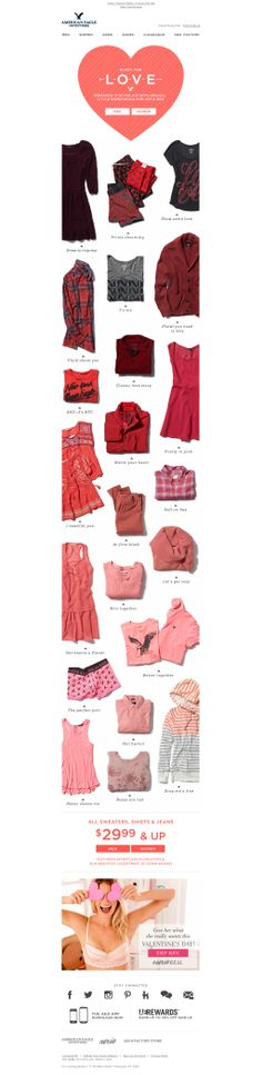 color story for valentine's day #AmericanEagle #AE