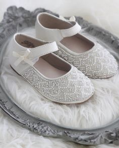 205 best kailee p shoes flower girl shoes images on pinterest in girls infant toddler shoes off white shimmer maryjane flats with rhinestones pearl mightylinksfo