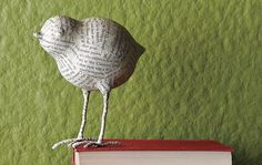 Pássaros de papel machê - Vix