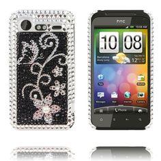 "Paris (Silverblomma) HTC Incredible S ""Bling-Bling""-Skal"