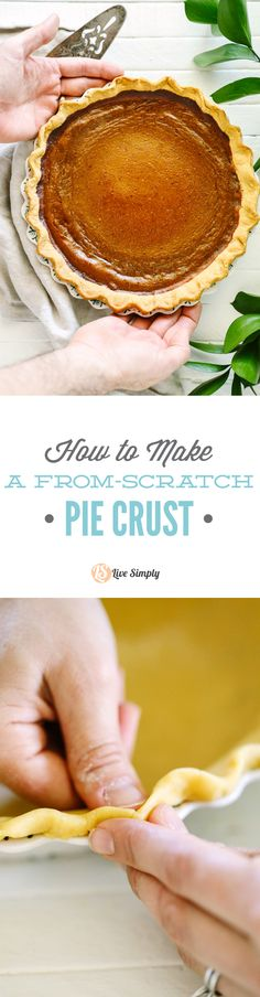 ... pie crust with whole grain flour and real ingredients. So easy. So