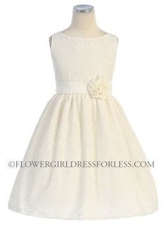 SK_437OW - Girls Dress Style 437- Sleeveless Lace Dress - White - Flower Girl Dress For Less Do you like this one colleen